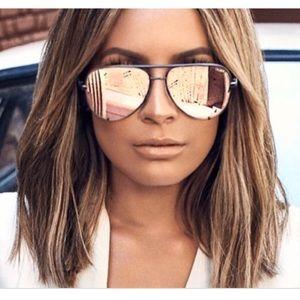 Quay x Desi Perkins Aviator Sunglasses